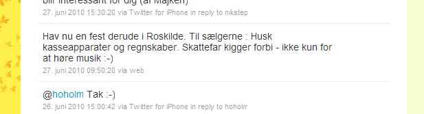 Hav nu en fest derude i Roskilde. Til sælgerne : Husk kasseapparater og regnskaber. Skattefar kigger forbi - ikke kun for at høre musik :-)