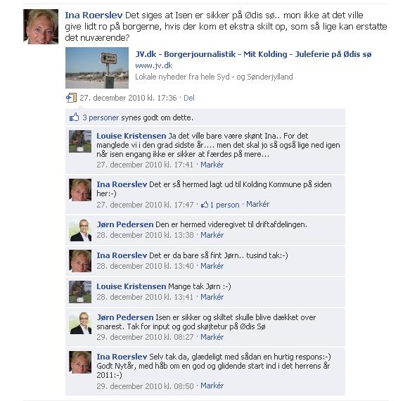 Borgmesteren hjælper en borger på FB