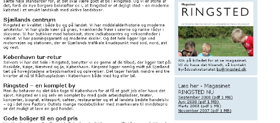 billede fra ringsted kommunes hjemmeside - ringsted en moderne købstad