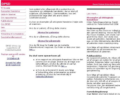 indberet på www.dpsd.dk