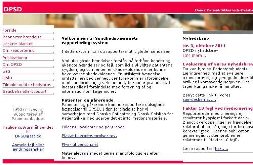 Forside, www.dpsd.dk