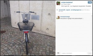 Borgmestercyklen har egne parkeringsplads. Foto af Anders Ladekarl